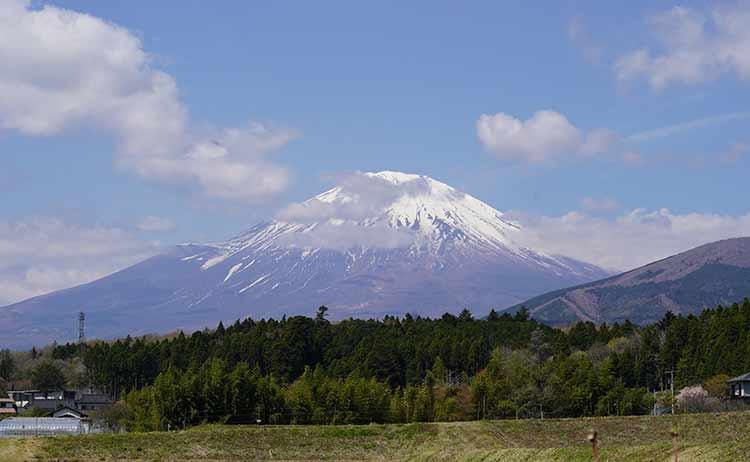 湯船原からの富士山