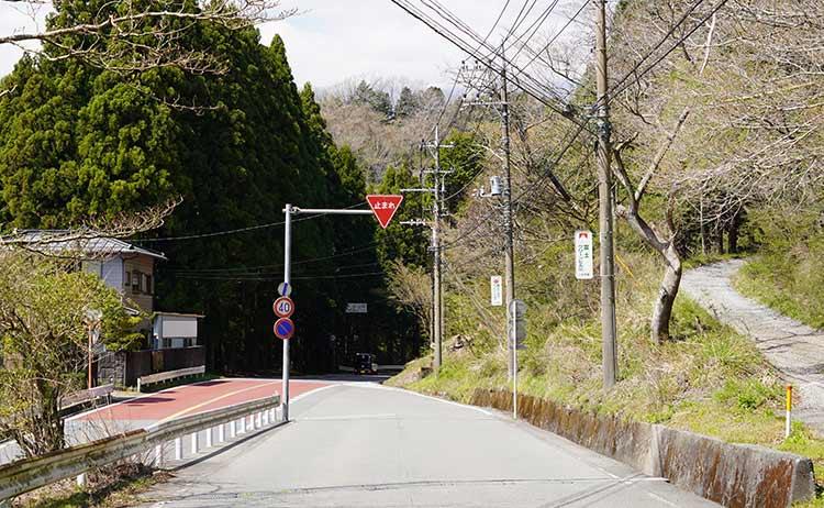 須走へ行く交差点